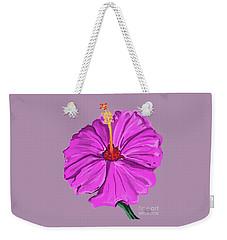 Lovely Pink Hibiscus Weekender Tote Bag