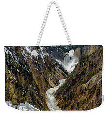 Weekender Tote Bag featuring the photograph Lower Falls In Yellowstone by Scott Read