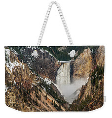 Weekender Tote Bag featuring the photograph Lower Yellowstone Falls by Matthew Irvin