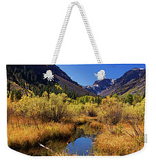 Weekender Tote Bag featuring the photograph Lundy's Magic by Tassanee Angiolillo