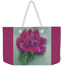 Weekender Tote Bag featuring the photograph Lush Red Rose by MM Anderson