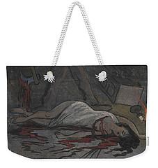 Weekender Tote Bag featuring the drawing Lust Killer by Ivar Arosenius