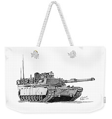 M1a1 D Company 1st Platoon Commander Weekender Tote Bag