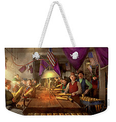 Weekender Tote Bag featuring the photograph Machinist - War - Meanwhile In The Bomb Factory 1912 by Mike Savad