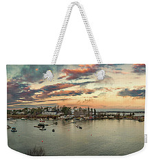 Weekender Tote Bag featuring the photograph Mackerel Cove Sunrise by Guy Whiteley