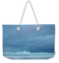 Weekender Tote Bag featuring the photograph Mackinaw City Ice Formations 21618012 by Rick Veldman