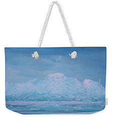Weekender Tote Bag featuring the photograph Mackinaw City Ice Formations 2161802 by Rick Veldman