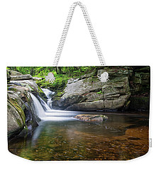 Weekender Tote Bag featuring the photograph Mad River Falls by Nathan Bush