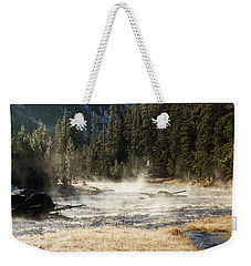Weekender Tote Bag featuring the photograph Madison River Morning by Pete Federico