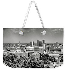 Magic City Skyline Bw Weekender Tote Bag