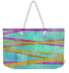 Malaysian Tropical Batik Strip Print Weekender Tote Bag