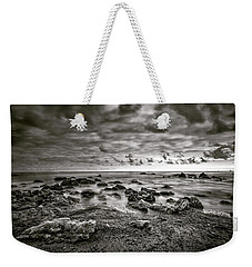 Weekender Tote Bag featuring the photograph Malibu Clouds by John Rodrigues