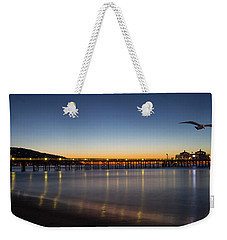 Malibu Pier At Sunrise Weekender Tote Bag