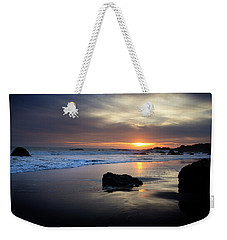 Weekender Tote Bag featuring the photograph Malibu Sunset by John Rodrigues