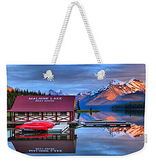 Maligne Lake Sunset Spectacular Weekender Tote Bag