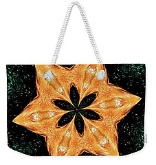 Weekender Tote Bag featuring the photograph Mallard Head Mandala by Debbie Stahre