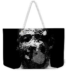 Weekender Tote Bag featuring the photograph Man In Decay by Sue Harper