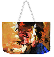 Man In The Cobalt Blue Shirt Weekender Tote Bag