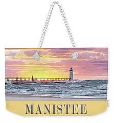Manistee Pierhead Poster Weekender Tote Bag
