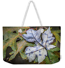 Weekender Tote Bag featuring the photograph Maple And Oak by Michael Arend