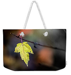 Weekender Tote Bag featuring the photograph Maple Flag by Michael Arend