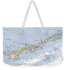 Marathon And Duck Keys Custom Noaa Nautical Chart Weekender Tote Bag