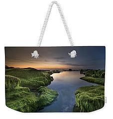 Marine Sunset Weekender Tote Bag