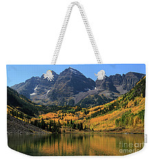 Maroon Bells In Fall Weekender Tote Bag