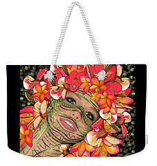Mask Freckles And Flowers Weekender Tote Bag