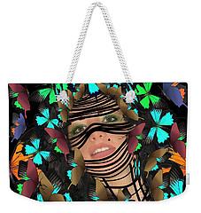 Mask Of Butterflies And Bondage Weekender Tote Bag