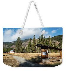 Mazama Barn Trail And Bench Weekender Tote Bag