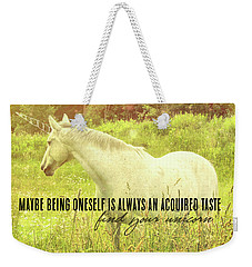 Meadow Gray Quote Weekender Tote Bag