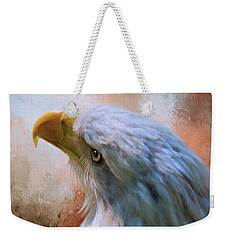 Weekender Tote Bag featuring the photograph Meant To Be - Eagle Art by Jordan Blackstone