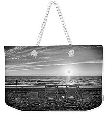 Weekender Tote Bag featuring the photograph Memories In Black And White by Lynn Bauer