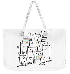 Meow Kitties - Baby Room Nursery Art Poster Print Weekender Tote Bag