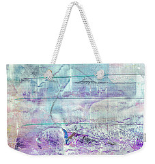 Mermaid Dream - Bright Pastel Tone Purple And White Abstract Art Weekender Tote Bag