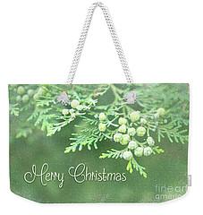 Merry Christmas - Junipir Bow Weekender Tote Bag