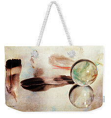 Weekender Tote Bag featuring the photograph Messages From Above by Randi Grace Nilsberg