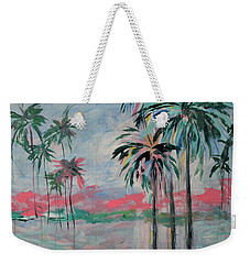 Miami Palms Weekender Tote Bag
