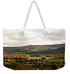 Weekender Tote Bag featuring the photograph Middleburg In New York by Angie Tirado