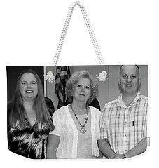 Weekender Tote Bag featuring the photograph Mike's Family by Angela Murdock