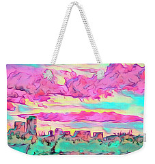 Mile High Sunset Weekender Tote Bag