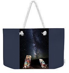 Milky Way Over Mojave Desert Graffiti 1 Weekender Tote Bag