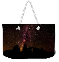 Weekender Tote Bag featuring the photograph Milky Way Over Turret Arch by Andy Crawford
