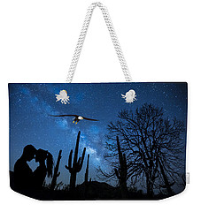 Weekender Tote Bag featuring the digital art Milky Way Proposal by Ericamaxine Price