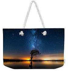 Weekender Tote Bag featuring the photograph Milky Way Swamp by Andy Crawford