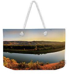 Missouri River Sunrise Panoramic Weekender Tote Bag