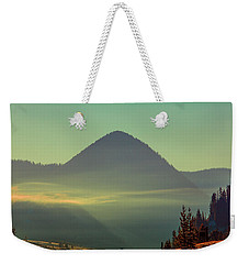 Weekender Tote Bag featuring the photograph Misty Mountain Morning by Pete Federico