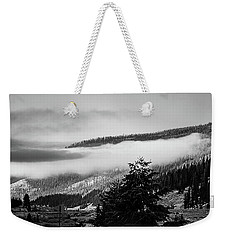 Weekender Tote Bag featuring the photograph Misty Mountain  by Pete Federico