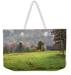 Weekender Tote Bag featuring the photograph Misty New England Autumn by Bill Wakeley